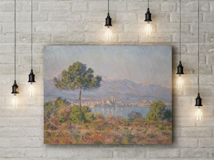 Claude Monet: Antibes Seen from the Plateau Notre-Dame. Fine Art Canvas.